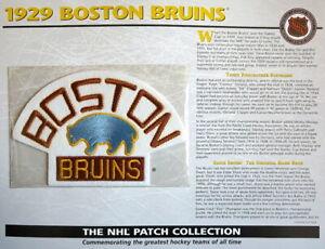 1929 BOSTON BRUINS ~ Willabee & Ward NHL THROWBACK HOCKEY TEAM LOGO PATCH Card