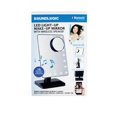 SoundLogic Led Light-up Make-Up Mirror with Bluetooth Wireless Speaker