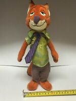 Disney Store Zootopia Nick Wilde Stuffed Plush Toy 13 Inch