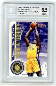 2000-01 Fleer Authority With Authority #WA14 Shaquille O'Neal #001/299 BGS 8.5
