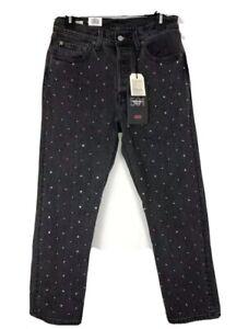 Levi's Premium 501  Original Cropped Studded Jeans Size 26x28 Irregular 128.00