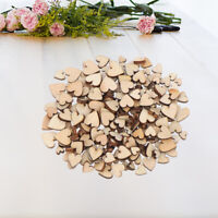 200pcs Rustic Wooden Love Heart Wedding Table Scatter Decoration Wood Crafts