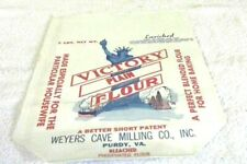 Rare Old Vintage Original 5 Lbs Enriched Victory Plain Flour Bag Unused 1940's