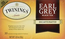 Twinings Earl Grey Decaf Tea, Tea Bags, 20-Count Boxes (Pack of 6) , New, Free S