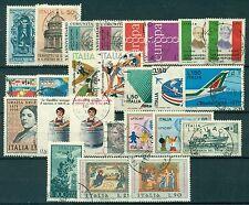 1971U ITALIA 1971 Annata completa USATA 25 valori,  buone/ottime condizioni, USE