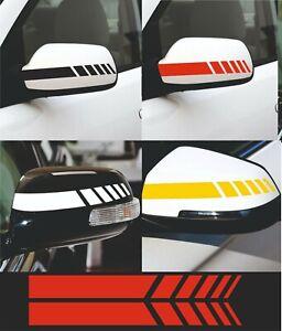 2 x Wing mirror stripes Car Van Styling Stickers Decals Vinyl V612