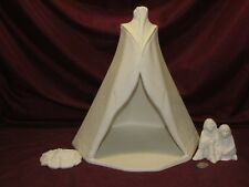 Ceramic Bisque Native American Teepee with Children U-Paint Indian Ready to