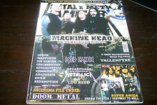 METAL HAMMER MAGAZINE 10/2011 MACHINE HEAD ICED EARTH METALLICA DOOM METAL