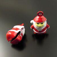 9x Colorful Cute Xmas Santa Claus Bell Enamel Alloy Pendants Charms Crafts 35266