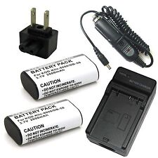 Charger + 2x Battery Pack for Kodak Easyshare Z1012 IS Z1085 IS Z1485 IS Z612