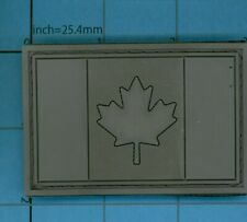 GREY PVC PATCH CANADA FLAG RUBBER LEAF CANADIAN TACTICAL ARMY OPS MORALE ACU