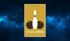The Big Lebowski Minimalist Fridge Magnet. The Cohen Brothers. Ten Pin Bowling