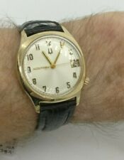 Vintage 1969 Bulova Accutron 2181 14CT Gold Filled Silver Dial Watch