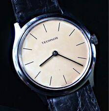 NOS nuevo Technos cuerda manual winding vintage watch reloj 33mm