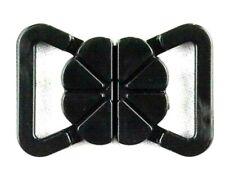 Bikini Verschluss  schwarz  15 mm Trägerbandbreite