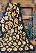 BEAUTIFUL Indian Gold Afghan/Crochet Pattern INSTRUCTIONS ONLY
