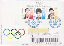 ARMENIA OLYMPIC CHAMPIONS REGISTERED FDC 2010 TO NAGORNO KARABAKH R17031