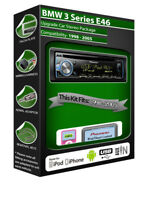 BMW 3 Series E46 CD player, Pioneer headunit plays iPod iPhone Android USB AUX