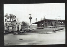REAL PHOTO COLUMBUS INDIANA BIG BOY RESTAURANT OLD CARS POSTCARD COPY