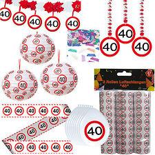 44 tlg.Set Party Set zum 40 40. Geburtstag Dekopaket incl. 3 Papierlaternen Deko