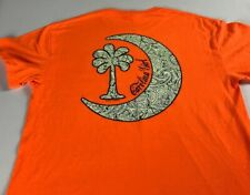 South Carolina Girl T-Shirt Womens Medium Orange Palmetto State Southern Tee Top