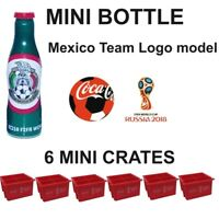 MEXICO LOGO MINI COCA COLA BOTTLE 6 CRATES RUSSIA SOCCER FOOTBALL WORLD CUP 2018
