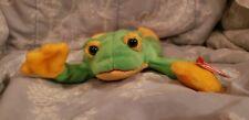 "New ListingNew! Ty Beanie Babies Smoochy The Frog 6"" Plush Stuffed Animal W/Tags"