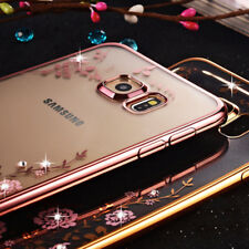 Case for Samsung Galaxy S8 S9 Plus Note 9 Crystal Diamond Back Cover A5 A7 2017