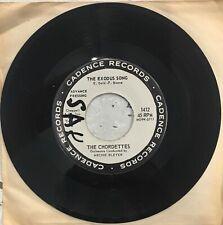 "THE CHORDETTES Exodus Song 7"" 45 PROMO Single 1961 Pop"