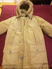 WOOLRICH DOWN ARCTIC PARKA MEN'S COYOTE FUR JACKET COAT GOOSE DOWN Jacket