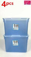4x Quadrant Light Blue Store It Plastic Container 20L Storage Organizer Q114453