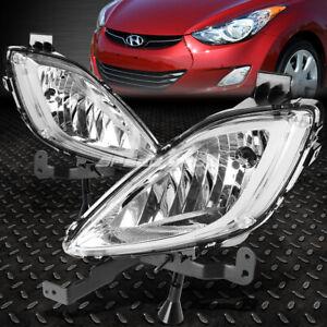 FOR 11-13 ELANTRA MD/UD SEDAN CLEAR LENS OE BUMPER DRIVING FOG LIGHT LAMP