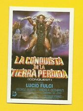 La Conquista de la Tierra Perdida Vintage 1984 Spanish Movie Film Collector Card
