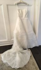 CASABLANCA Wedding Bridal Formal Gown; Ivory W/ Chapel Train; Style C1706; SZ. 8