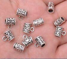 10pcs Tibetan silver charm  beads pendant bails Connectors 10mm A3061