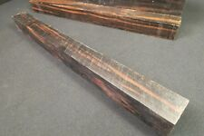 "MACASSAR  EBONY TURNING BLANK 1 1/2"" X 18""  AWESOME COLOR CUES CALLS FLUTES!!"