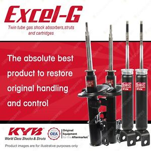 Front + Rear KYB EXCEL-G Shock Absorbers for NISSAN Elgrand E51 V6 RWD 4WD Wagon