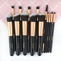 14pcs Pro Powder Foundation Eyebrow Lip Eye Cosmetic Brush Makeup Nice MA