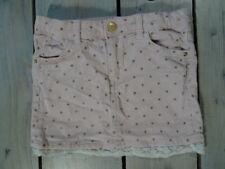 Jupe aspect velours rose clair motif étoiles pailletées H&M Taille 4-5 Ans/110cm