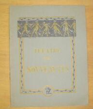 PROGRAMME MUSIC HALL THEATRE DES NOUVEAUTES REVUE ICI PARIS DE RIP 1933/34