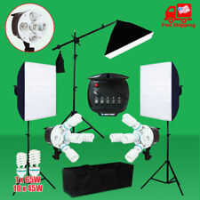 Photography Continuous Video Softbox Lighting Boom Arm Light Stand Soft Box  Kit
