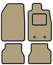 RENAULT SCENIC 2009 ONWARDS TAILORED BEIGE CAR MATS WITH BLACK TRIM