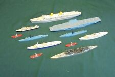 11 vintage Tri-ang ships and boats from the 1960's.