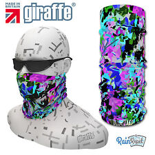 G469 Blue Jazz Multifunctional Headwear Snood Bandana Headband Tube cycle run