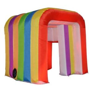 5.3ft(1.6m)Portable Rainbow Inflatable Photo Booth Enclosure Kids Tent for Party