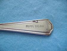 VINTAGE INTERNATIONAL SILVERPLATE SOUP SPOON-HOTEL DILIDO-MIAMI BEACH-FLORIDA