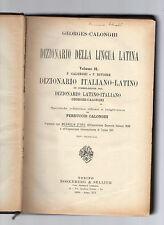 georges-calonghi - dizionario italiano latino --edizione 1936