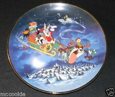 What's Up Santa Plate from The Warner Bros Looney Bugs Bunny, Taz, Tweety