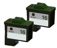 2-pk For Lexmark 16 (10N0016) Black Ink For X1170 X1180 X1185 X1190 X1195 X1240