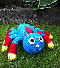 Crochet pattern only -create an amigurumi spider toy similar to Woolly cbeebies